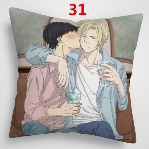 Anime Banana Fish Ash Lynx Pillowcase Pillow Cushion Case Cover 16x16 Inches