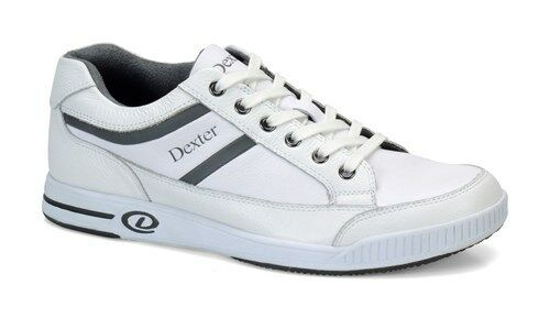 DEXTER MEN'S KEEGAN BOWLING SHOES WHITE GREY RIGHT HANDED ONLY