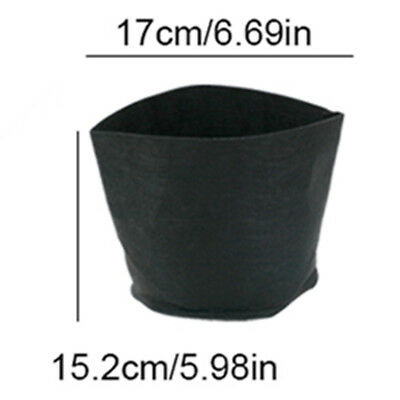 Black Non-woven Fabric Planting Bags Plants Grow Pots for Gardening Balcony Bags