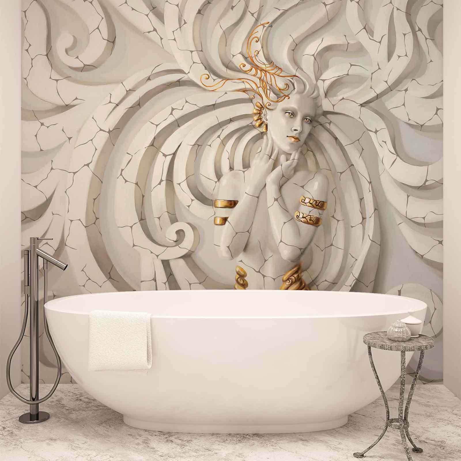 WALL MURAL PHOTO WALLPAPER XXL Medussa In Marble (3161WS)