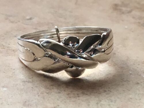 Puzzle ring 4 band Four band silver puzzle ring Turkish 925 silver wedding.