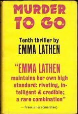 Murder to Go by Emma Lathen First Edition (Hardback, 1970)