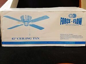 42 ceiling fan force flow 110 volt 3 speed reversing switch 4 image is loading 42 034 ceiling fan force flow 110 volt sciox Image collections