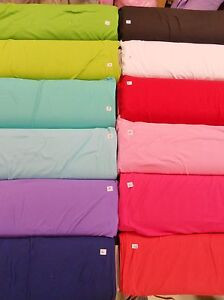 JUST-IN-Interlock-t-shirt-knit-brights-earth-100-cotton-fabric-1yd-x-80-034-WIDE