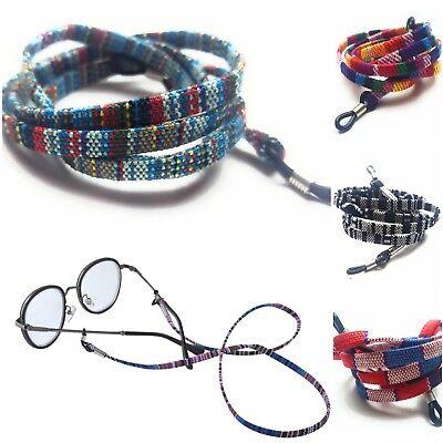 100% Vero Occhiali Retrò Collo Titolare Cotone Corda Corda Cinturino Cordino Eyewear-mostra Il Titolo Originale Irrestringibile