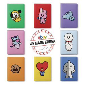 pretty nice b87e7 2558f Details about BTS BT21 Folding Card Case Cover 8 Characters Official K-Pop  Authentic Goods