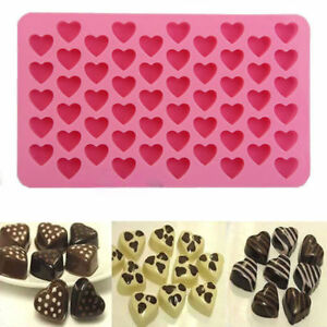 Xcellent-55-Hearts-Mini-Heart-Shape-Silicone-Ice-Cube-Chocolate-Mold-Pink-New