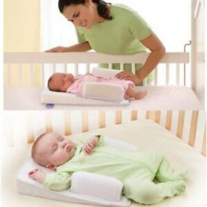 Infant Newborn Baby Anti Roll Pillow Sleep Prevent Flat Head Cushion Positioner