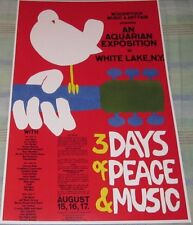 CLASSIC WOODSTOCK FESTIVAL NEW YORK 1969 REPLICA CONCERT POSTER W/TOP LOADER