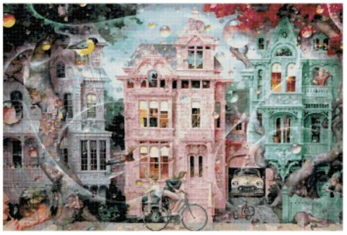 Cross Stitch Patterns// Needlecrafts Counted Cross Stitch Designs// Dream Home 1