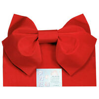 Japanese 100% Polyester 60l Kimono Yukata Butterfly Obi Belt Red, Made In Japan