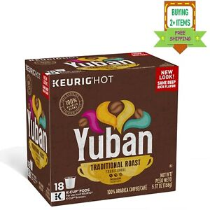 Yuban Ground Coffee K Cup Pods Traditional Medium Roast
