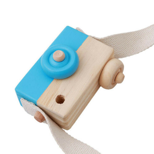 Wooden Camera Kids Toy Baby Gift Children Wood Neck Decor Room Photography