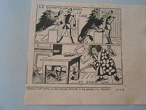 Humour-Le-Dompteur-dans-la-Cage-et-chez-lui-Image-Print-1938