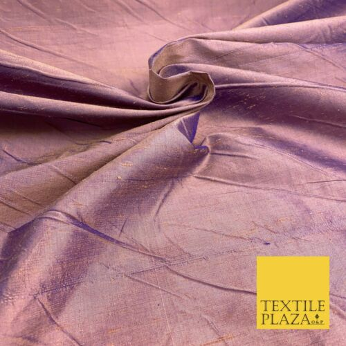 Luxury 100/% PURE Dupion Raw Silk Fabric Slubbed Handloom Dress Over 25 Colours