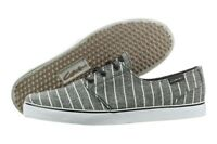 Circa Crip Crip-bkwhs Black White Stripes Canvas Skate Shoes Medium (d, M) Men