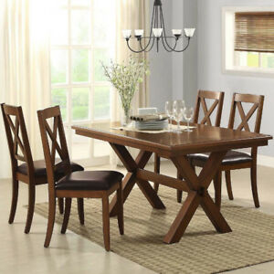 Image Is Loading Dining Table Set 5 Piece 4 Chairs Classic