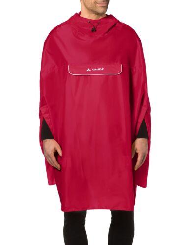 Vaude Valdipino Poncho Cycling Rain Jacket Indian Red XL
