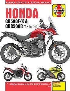 Haynes Manual 6301 for Honda CB500F, CB500X & CBR500R (2013 - 2020)