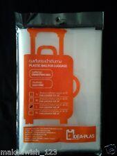"IDEA PLAS Luggage Covers Plastic Drawstring Bag Dust Free Keep Clean Fit 32"" XL"