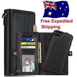 best service b955f 9c98d Apple iPhone 8 Plus / 7 Plus | Genuine Leather Multi-Wallet Case For ...