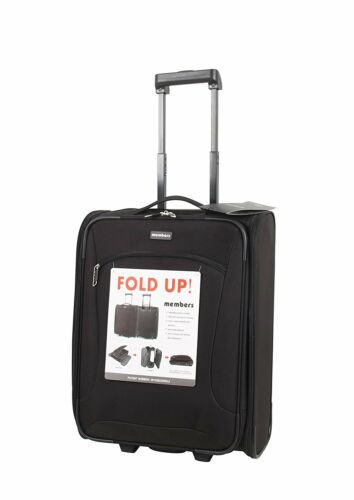 Members Flatpack 55cm Ryanair Compliant CarryOn Foldable 2 Wheel Cabin Suitcase