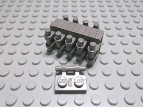Lego 10 Platten  1x2 mit Griff altdunkelgrau  2540 Set 4489 6554 8356 4404