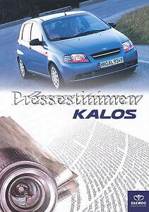 Daewoo-Kalos-Pressestimmen-Prospekt-2003-brochure-press-reports-Autoprospekt