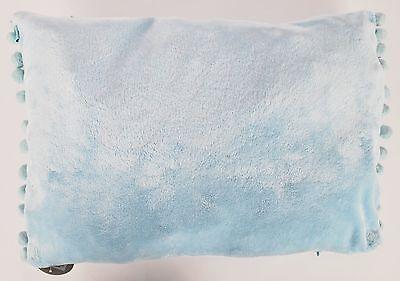 Set Of 4 Cuddly Soft Fur Design Baby Blue Cushion Covers 50 x 35cm 680078