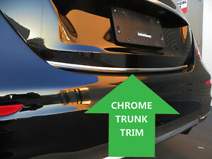 """For CadillacModel 2001-2019 1/""""Wide Chrome Tailgate Trunk Molding Strip Trim Kit"""