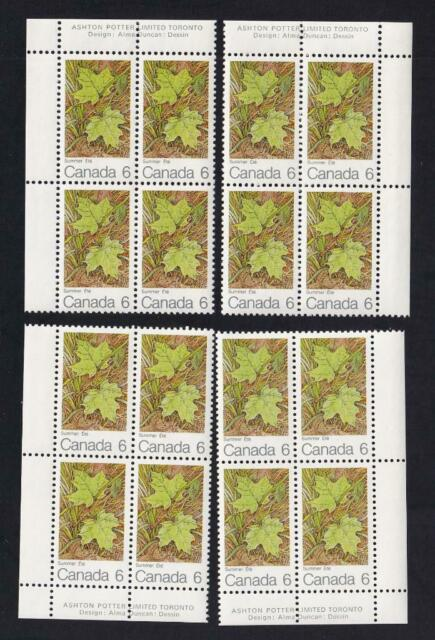 Canada 1971 Maples Leaves in Summer, MNH PB set, sc#536