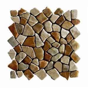 1 Qm M 005 Badezimmer Kuchen Boden Wand Fliesen Naturstein Mosaik