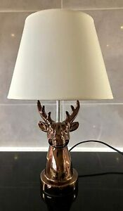 Rose-Gold-Stag-Table-Lamp-with-Cream-Lamp-Shade-Bedside-Lamp