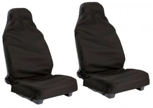 VW SCIROCCO 08 ON FRONT BLACK PAIR CAR SEAT COVER SET PROTECTORS