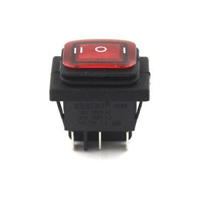 Black Waterproof Latching Rocker Switch 6Pin 3 Position 16AV//250AC 20A//AC125V