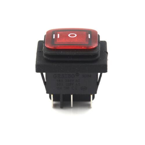 Rot 3 Position 6Pin DC 12V wasserdicht Auto Boot LED Wippschalter einrasten XW
