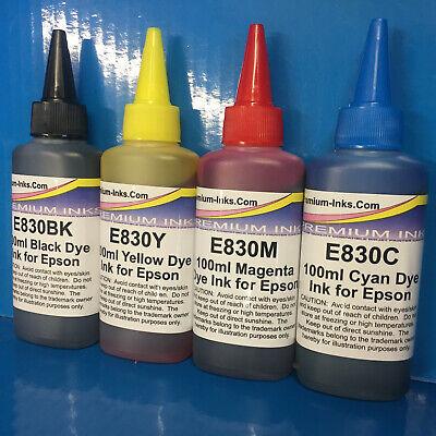 134d0e98d3c86 4 X 100ml Non OEM Compatible BULK Refill Ink Bottles Epson Stylus Sx218 SX  218