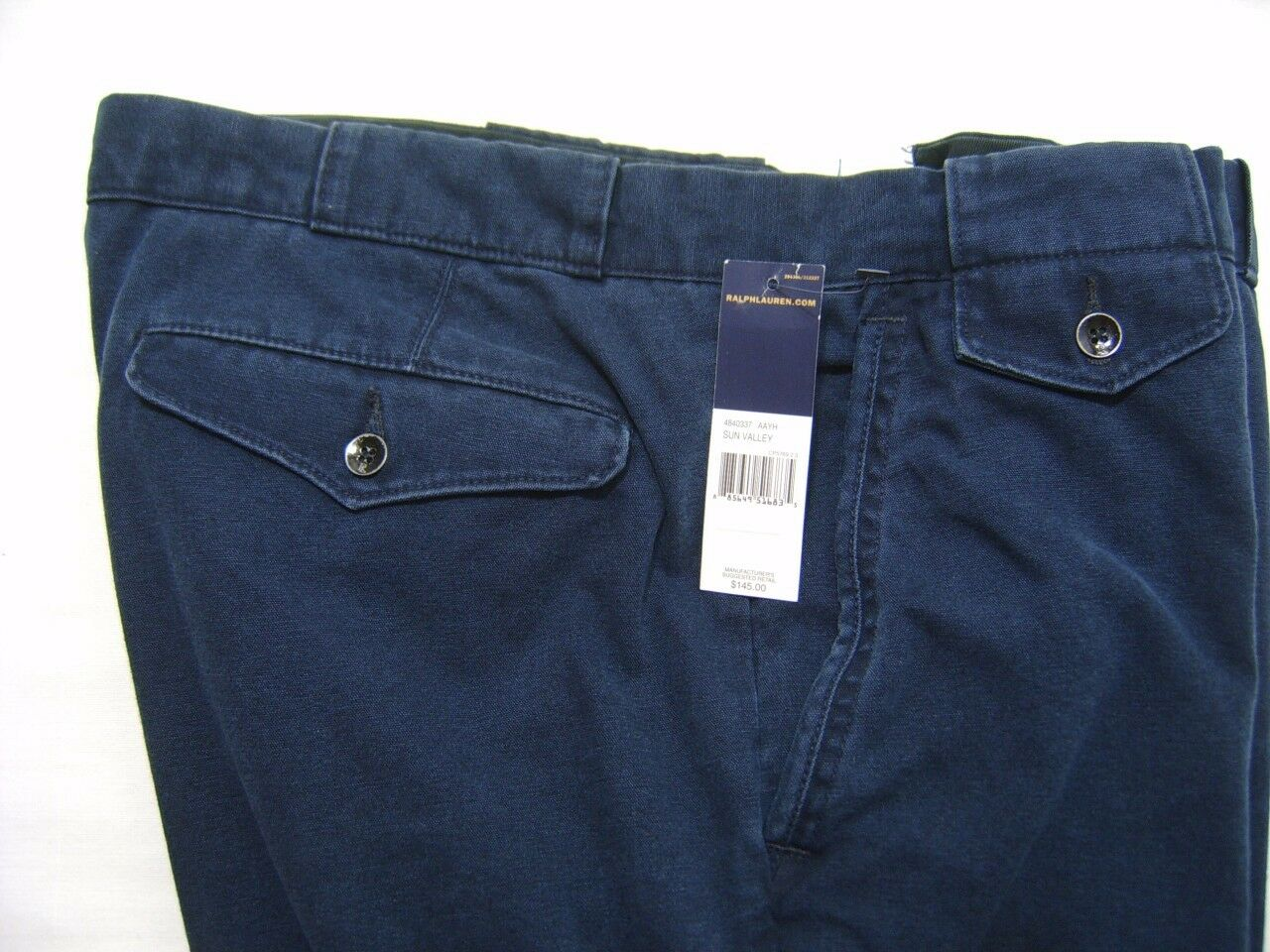 Polo Ralph Lauren Men's Distressed Carpenter Pants 32 30 Denim Navy Canvas
