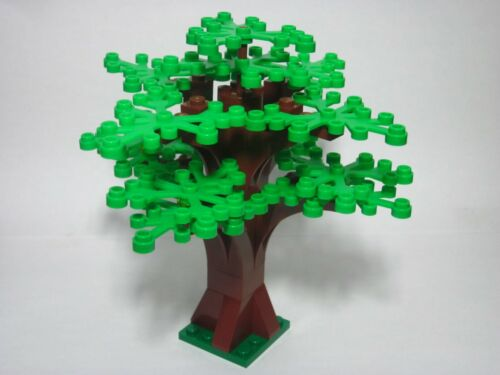 Ship! new parts FREE U.S LEGO custom forest tree with 14 bright green leaves