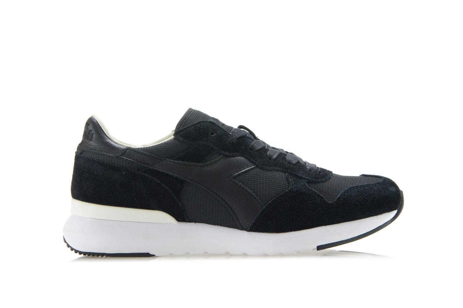 DIADORA HERITAGE HERITAGE HERITAGE Hombre Mujer Tenis Zapatos tridente Evo Negro Gamuza tenis  marca famosa