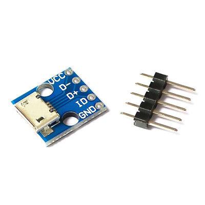 2pcs MICRO USB type B 5pin Female Socket Connector Charging Module Board Adapter