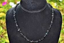 "CHARGED  Himalayan Black Tourmaline Necklace 18"" Healing Energy REIKI WOW!!!"