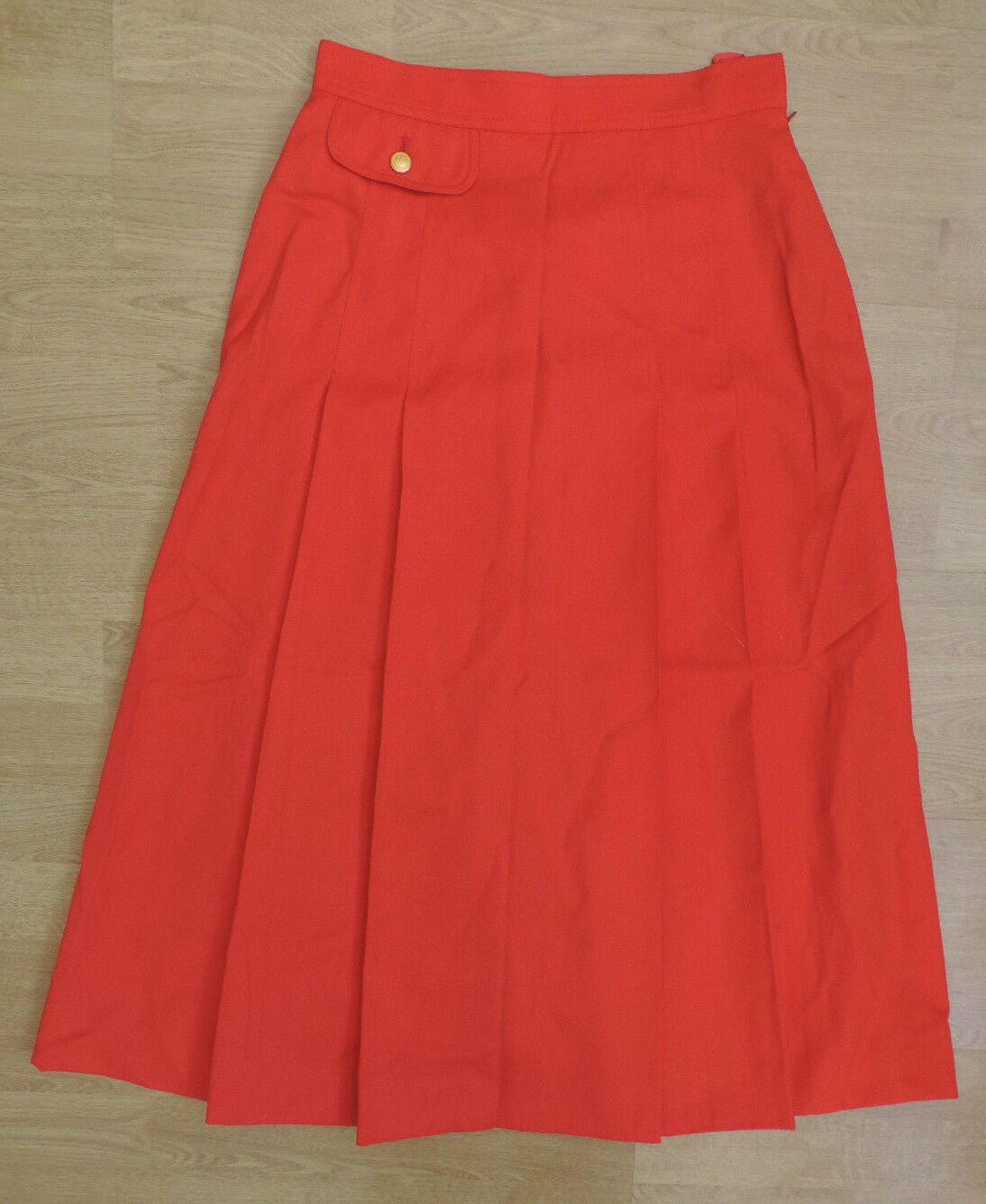 Women's Vintage Aquascutum Peach Pink Salmon Red A Line Skirt H2-B15
