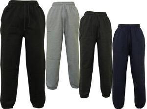 Homme-Elastique-Polaire-A-Revers-Survetement-Pantalon-De-Travail-Pantalon-De-Survetement-Track