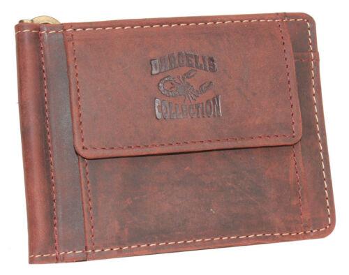 Dargelis Vintage Pelle dollari clip denaro SPANGE PORTAFOGLIO PORTAFOGLI CARTE BORSA