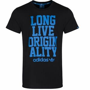 Adidas-Originals-Tshirt-Mens-Casual-Black-Long-Live-Originality-M69245-Size-S