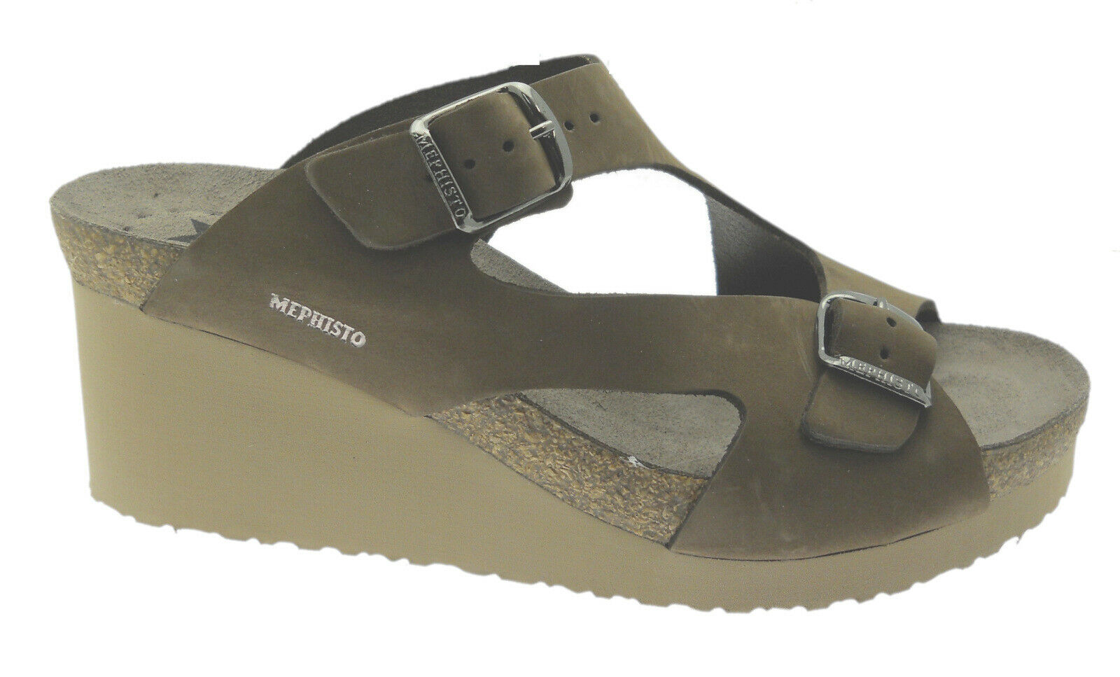 Mephisto terie slipper open buckle adjustable brown mephisto