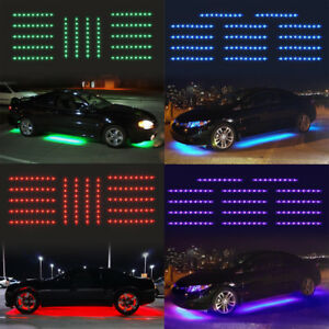 Details About 14pcs Led Strip Under Car Glow Under Body Neon Lights Bar Strip Kit Waterproof