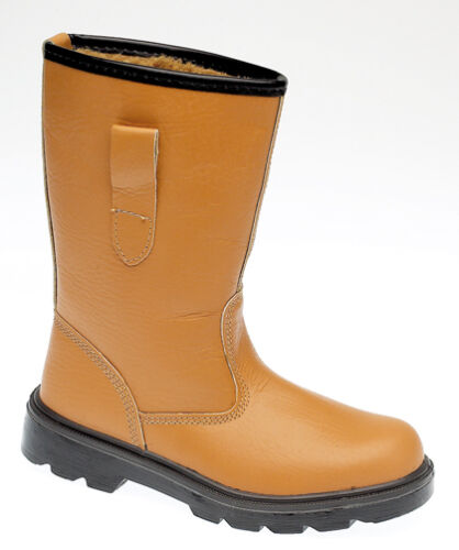GRAFTERS RIGGER STEEL TOE CAP BOOTS LEATHER TAN SIZE 9