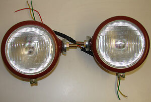 Fordson-Major-amp-Power-Major-Tractor-Pair-of-Headlamps-Original-Design-NEW